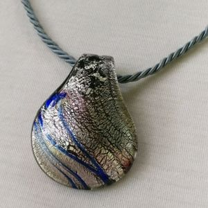 Lia Sophia Dichroic Art Glass Pendant Necklace